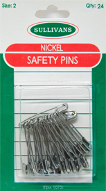 Nickel Safety Pins