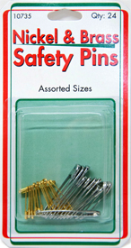Nickel & Brass Safety Pins