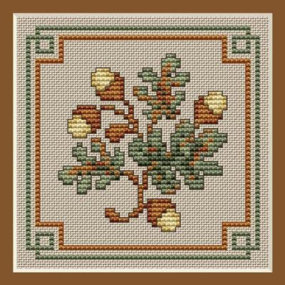 Fall Leaves Cross Stitch Project