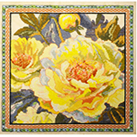 Peony Tapestry Floral Floss Kit