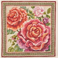 Roses Tapestry Floral Floss Kit