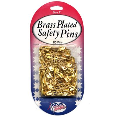 Brass Safety Pins Size 2