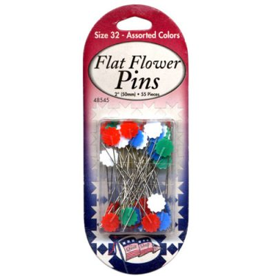 Flat Flower Pins Size 32 - Assorted Colors
