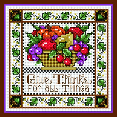 Give Thanks Cross Stitch Project
