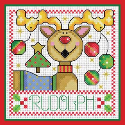 Rudolph Cheer Cross Stitch Project