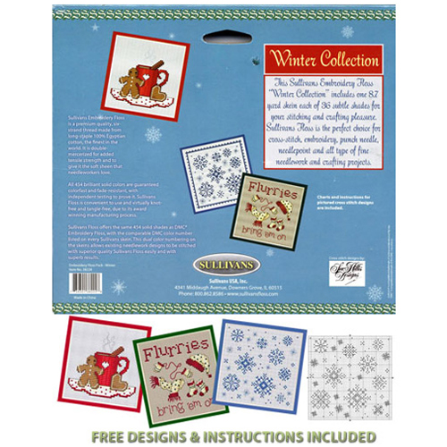 Winter Embroidery Floss Pack